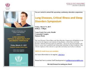 Loma Linda University Health - Lung Diseases, Critical Illness and Sleep Disorders Symposium