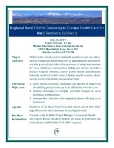 July 2017 Regional Rural Health Convening