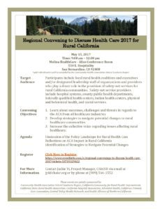 May 2017 Regional Rural Health Convening