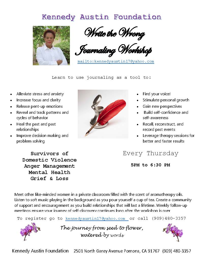 Kennedy Austin Foundation Write The Wrong Journaling
