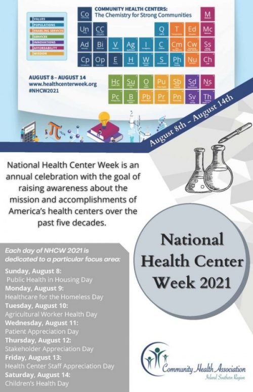 Flyer for National Health Center Week 2021